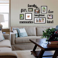 3D Family Tree Photo Picture Frame Acrylic Kit Collage Wall Stiker Home  !