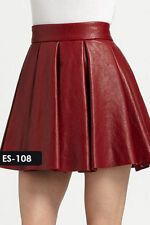 Leather Mini Solid Skirts for Women