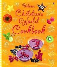 Children's World Cookbook (Usborne Cookbooks), Sarah Khan Spiral bound Book