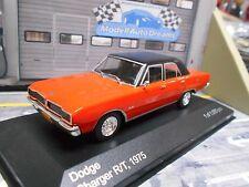 DODGE Charger R/T Limousine V8 1975 rot orange schwarz IXO White Box 1:43