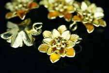 Kg-402 Ksb Thai Haren Hill Silver 2 Gold Vermeil Flower Wild Charm