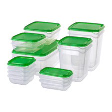 PRUTA  Food container, set of 17 Transparent / Green