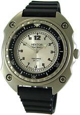 HEKTOR KOMMANDO Germany Taucher Herrenuhr vintage diverdesign watch 20ATM silber