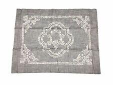 Restoration Hardware RH Fog Gray Italian Baroque Medallion Pillow Sham Cover Bed