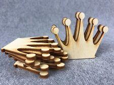 10x Prinzessin Königin Krone blank Holzschnitt Holz  Basteln Malen Deko (W31kl)