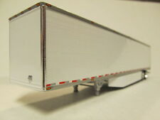 DCP 1/64 SCALE UTILITY DRY VAN TRAILER WHITE RIBBED SIDES, WITH  SIDE SKIRTS