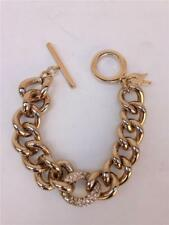 Victoria's Secret Goldtone Chunky Chain Link Angel Wings Signed Bracelet