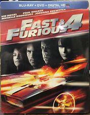 Fast & Furious 4 Blu-ray DVD Digital STEELBOOK NEW SEALED