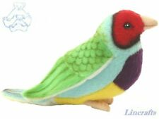 Hansa Red Headed Gouldian Finch 5692 Toy Bird Sold by Lincrafts Established 1993