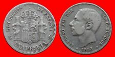 1 PESETA PLATA ALFONSO XII 1883 XX-83 BC-ESPAÑA-31076