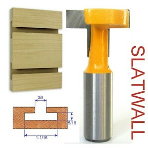 """1 pc 1/2"""" Shank T-Slot & T-Track Slotting and Slatwall Cutter Router Bit S"""