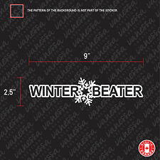 2X WINTER BEATER car sticker vinyl decal