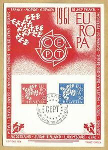 Maximumkarte Schweiz Cept 1961