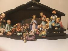 Beautiful Hummel Christmas Nativity Set 16 Figurines #214 Large Manager Tmk 6