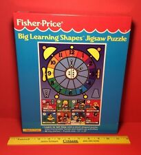 Vintage Fisher-Price Big Learning Shapes Puzzle Learn To Tell Time 48 Big Pieces