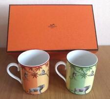 Hermes Porcelain Mug Cup Africa Orange Green Animal Tableware 2 set Ornament New