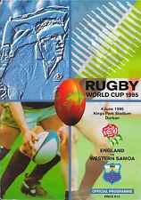 1995 - England v Western Samoa, World Cup Group Rugby Union Programme.
