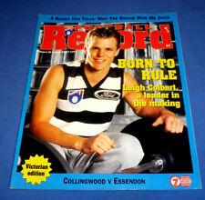 1996 AFL Football Footy Record Rnd 20 Essendon Def Collingwood Victorian Edition