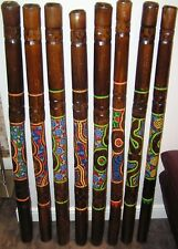 1 x Genuine Fair Trade Hand Finished Bamboo Didjeridoo Didge 120 cm Dot Painted