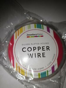 BN Jewellery Maker 10M SILVER PLATED COPPER WIRE 0.8MM