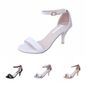 Summer Ladies Ankle Strap Sexy Stilettos High Heel Pumps Sandals Wedding Party L
