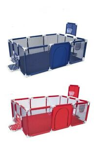 Recinto box bambini parco giochi con canestro e porte 4-36 mesi rete trasparente