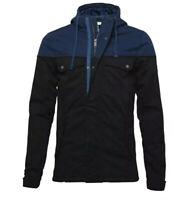 Adidas Neo ColourBlock Parka Jacket Men's Slim Fit Cotton Zip Lined Hoodie