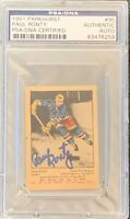 1951 1952 PARKHURST Paul Ronty AUTO PSA DNA AUTOGRAPH #95 HOCKEY Blue Label