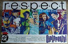 Respect 1998 Girlfrenzy Batgirl Raven Mist Wonder Woman Secret PROMO Poster VF
