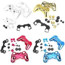 4x Custom Controller Full Shell Mod Kit Buttons for PS3 White/Gold/Red/Blue