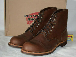 "Red Wing Heritage 8111 Iron Ranger Amber 6"" Boots UK8 US9D EU42 BNIB Vibram USA"