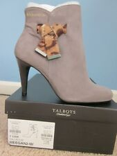 $179 NWB Talbots Meegan Suede Animal Bow Ankle Boot Gray  Size 7,5M