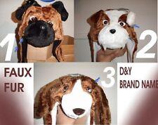 Super Soft D&Y Faux Fur animals Dogs hats New!