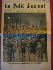 LE PETIT JOURNAL 1912 n 1110 RETRAITE MILITAIRE EN MUSIQUE / INONDATIONS ESPAGNE