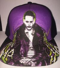 DC Comics Joker Suicide Squad Snapback BRAND NEW hat cap Flat Bill black purple