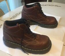 Dr. Doc Martens Brown Leather Chunky Ankle Boots - US M Size 9 - US L Size 10