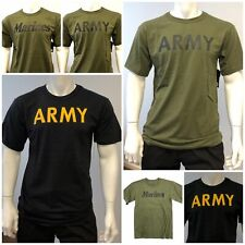 Mens Army Military Outdoor Gym Training Boot Camp Running T-shirt Tee Tank