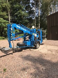 Genie TZ34/20 electric trailer Cherry Picker 2010 only 177hrs, new batteries