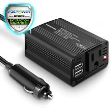 Fospower 150W DC 12V to 110V AC Travel Power Inverter Adapter w/ 1 Outlet 2 USB