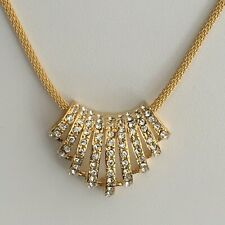 NEW GOLD PLATED & CRYSTAL FASHION NECKLACE PENDANT MADE WITH SWAROVSKI ELEMENTS