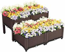 Vivohome Elevated Plastic Raised Garden Bed Planter Kit for Flower Vegetable Se