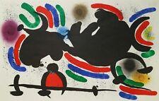 "Lithography Lithographie Litografia Joan Mirò ""Litografo I"" Tavola IV 1972"