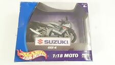NIB 2003 Mattel Hot Wheels 1:18 Moto Black & Silver/gray Suzuki Motorcycle