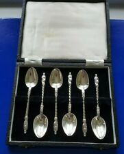 Set of Six Silver Apostle Spoons Sheffield 1898