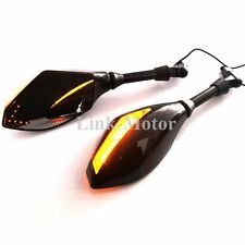 ARROW LED INTERGRATED TURN SIGNALS MIRRORS FOR MOTORCYCLE CRUISER 8MM 10MM MOUNT