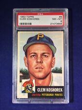 1953 Topps Clem Koshorek #8 PSA 8 Pittsburgh Pirates