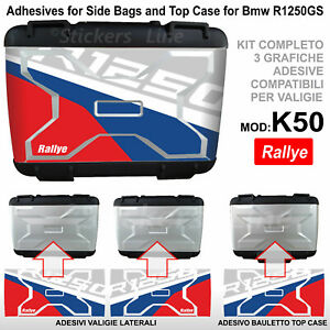 3 adesivi valigie vario BMW R1250GS Rallye R 1250GS K50 GS Compatibili GS