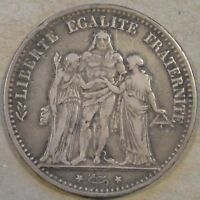 France 1874-K Five Francs as Pictured