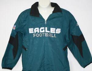 NEW Youth Kids REEBOK Philadelphia EAGLES Lightweight Green Wind Jacket NFL