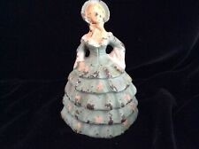 Southern Belle Cast Iron Door Stop Painted Flora on Green Gown
